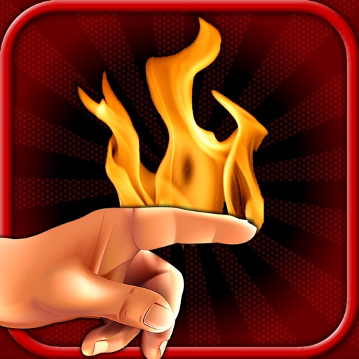 Draw with FIRE! Burn something with your FINGERS!! iOS App