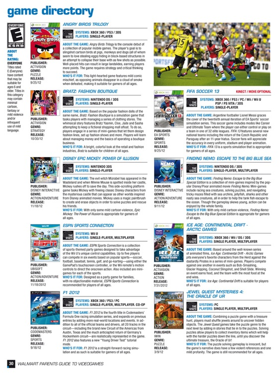 Walmart Parents Guide to Videogames Magazine screenshot-3
