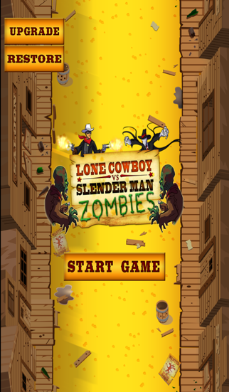 A Call of Monsters: Slender Man Zombies Vs Lone Cowboy - HD Shooting Game screenshot two