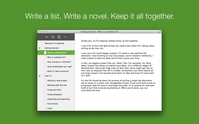 Leafnote Screenshot