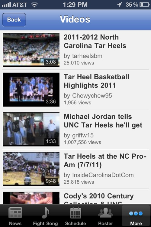 North Carolina Tar Heel Basketball screenshot-3