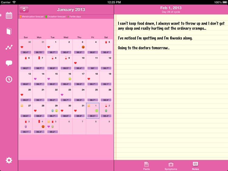 Menstrual Calendar for iPad
