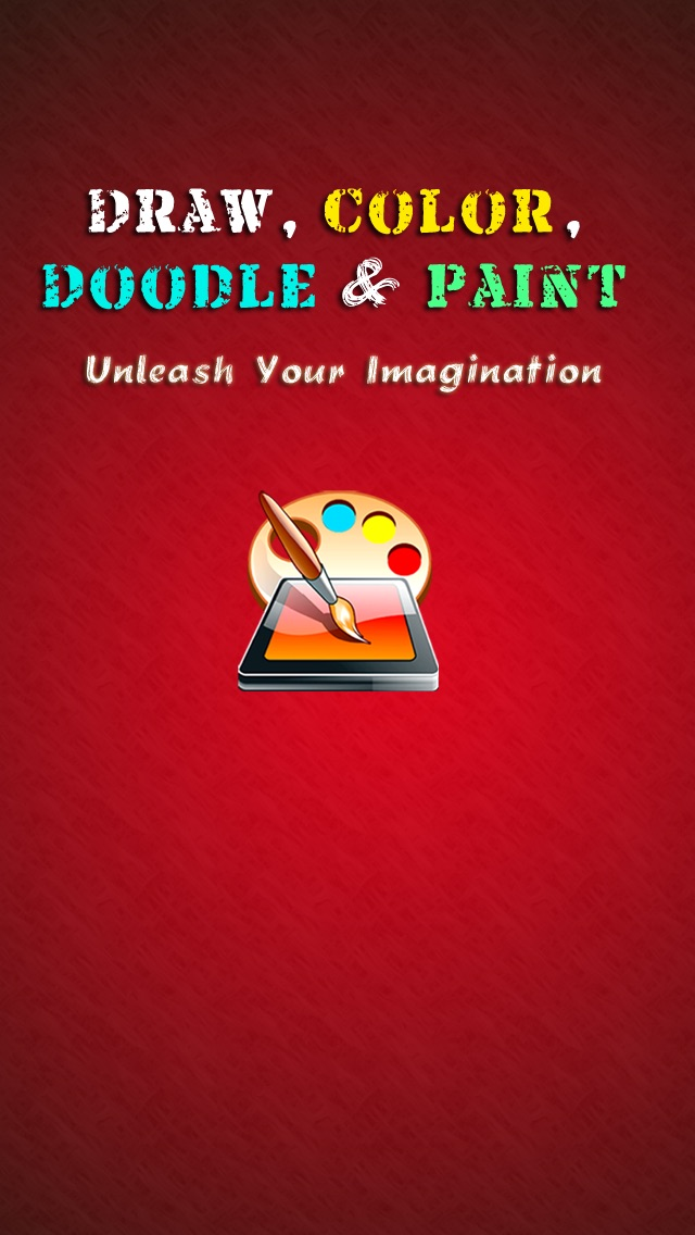 Draw Color & Paint - Fun doodle sketching and picture brush painting Screenshot on iOS