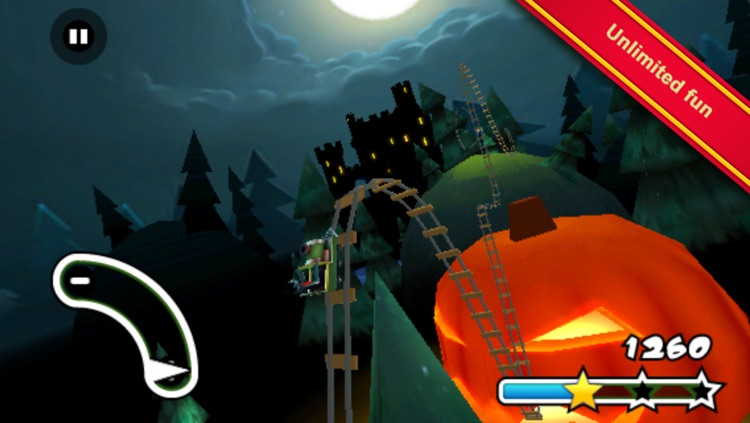 Haunted 3D Rollercoaster Rush screenshot-4