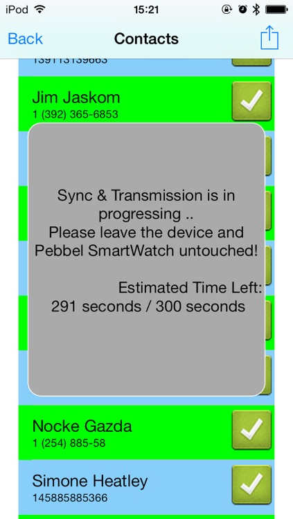 Contacts | Address Book for Pebble SmartWatch - Sync and Lock your contacts in safe
