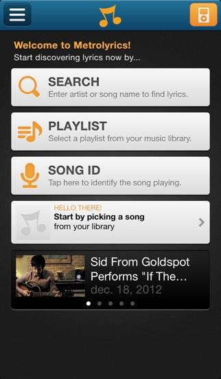 MetroLyrics iphone images