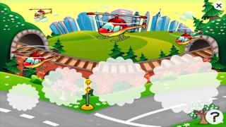 Auto-Lernspiel für Kindergarten, Vorschule und Schule: Spiele, Übungen, Puzzle und Lernen für Kinder von 2-5 und die Fahrzeuge der Stadt wie Autos, Zug, Flugzeug, Helikopter, Strassen und mehr kostenlos.Screenshot von 5