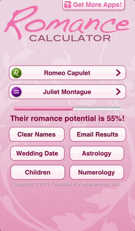 Romance Calculator Free screenshot-0