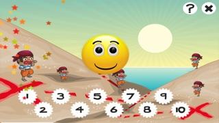 兒童遊戲2-5歲對海景的海盜:學會數數1-10幼兒園,學前班或幼兒園與海盜,船長,鸚鵡,百寶箱,鱷魚和船舶屏幕截圖5