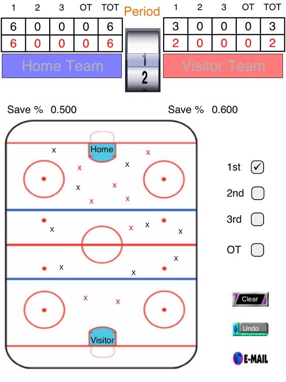 Hockey Shot and Goalie Saves Tracker screenshot-3
