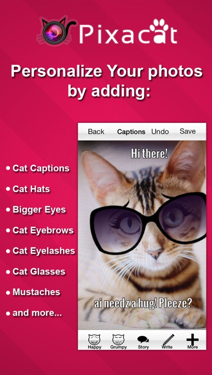 Pixacat: Free Photo Editor for Cat Lovers – Edit cat pictures, share them on Facebook and Instagram