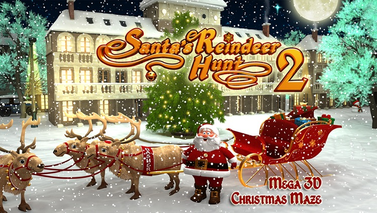Santa's Reindeer Hunt 2 - Mega 3D Christmas Maze screenshot-3