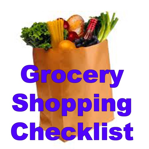 Grocery Shopping Checklist.Grocery Shopping List.Pantry inventory checklist icon