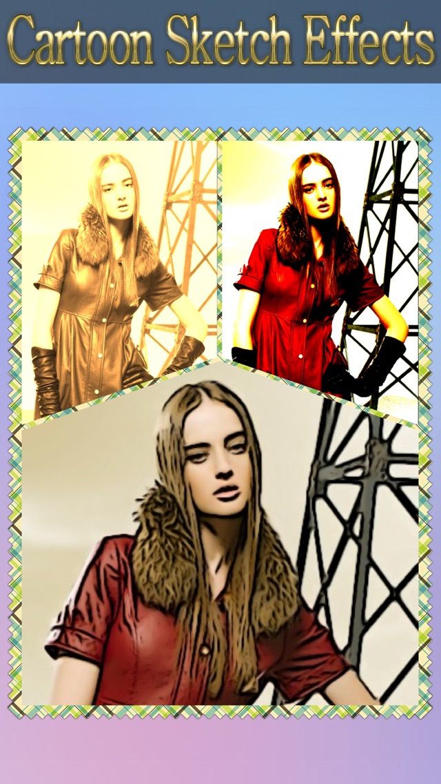 Cartoon Sketch Avatar Free - Pink Pencil & Coloring Toon Camera Photo Effects-1