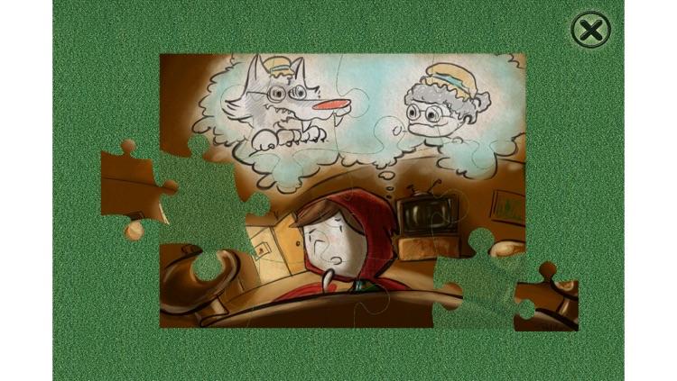 Little Red Riding Hood - Cards Match Game - Jigsaw Puzzle - Book (Lite) screenshot-4
