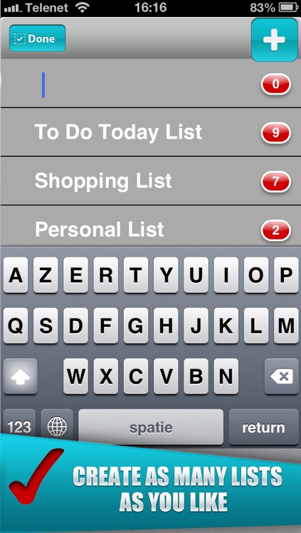 To Do-List for Getting Things Done! (create simple todo lists and check mark all your finished tasks) screenshot-3