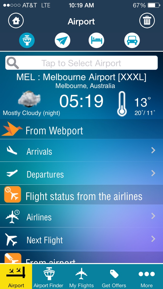 Melbourne Airport - Flight Tracker