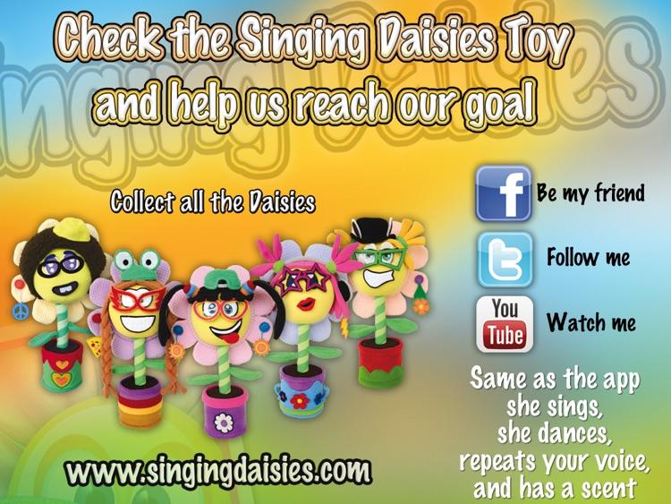 Singing Daisies - a dress up & make up games for kids screenshot-4