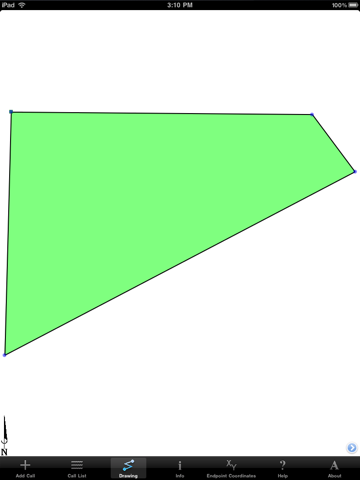 Screenshot of Metes and Bounds Basic