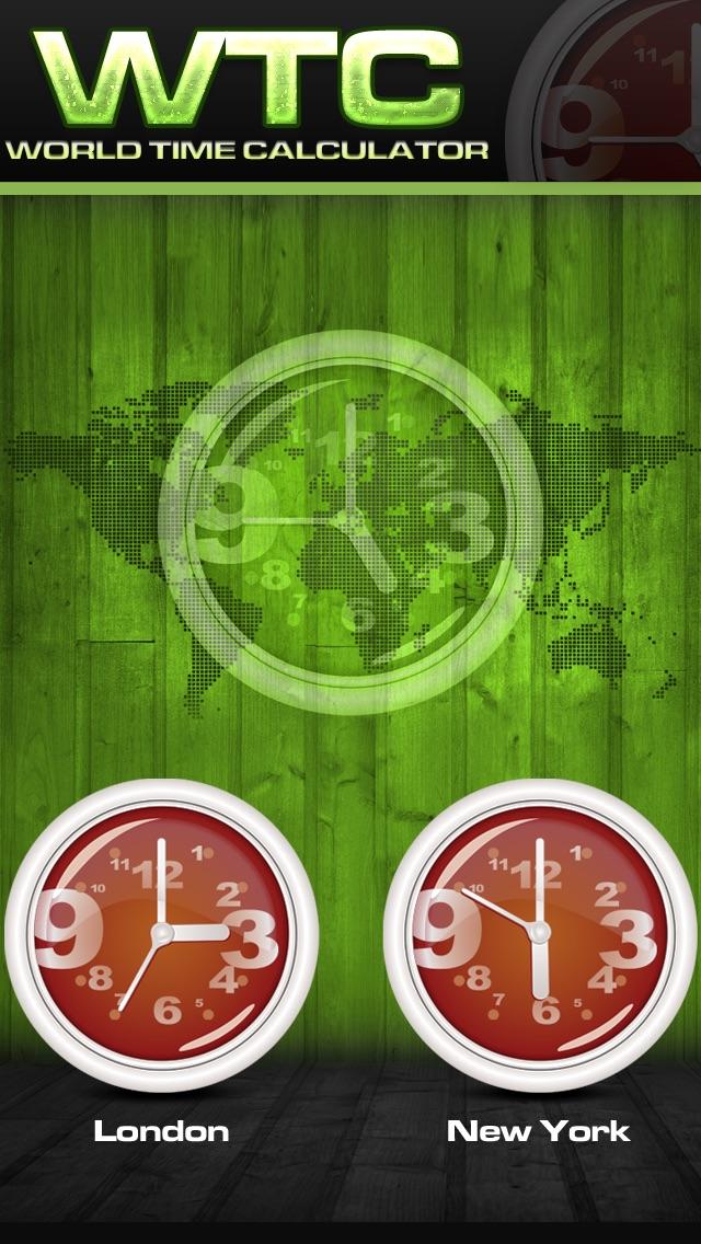World Timezone Calculator Screenshot