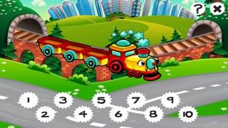 市の自動車について子供の年齢2-5のための123のゲーム: カウントを学ぶ 数字カー、レースカー、バス、トラック、飛行機、通りに1月10日。幼稚園、保育園や保育所のためにのスクリーンショット4