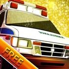 冬の寒い暗い夜の停電:救助に緊急車両 - 無料 icon