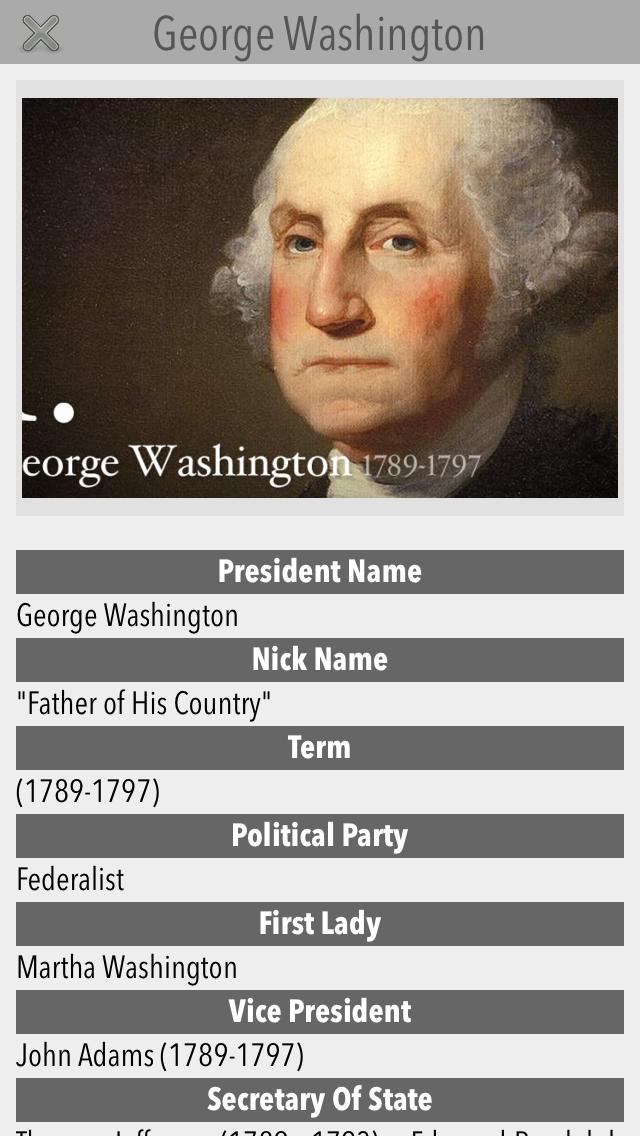 US Presidents V1 screenshot two