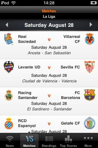 Spanish League - Soccer Live Scores