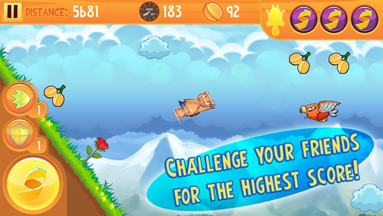 Kew Kew - The Crazy & Nuts Flying Squirrel Game screenshot-2