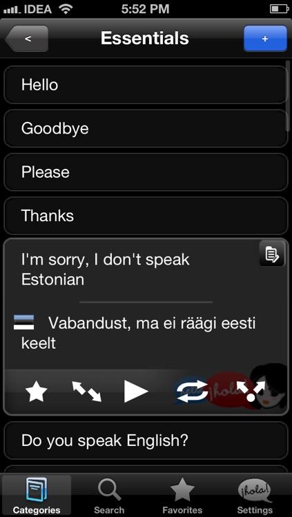 Lingopal Estonian LITE - talking phrasebook