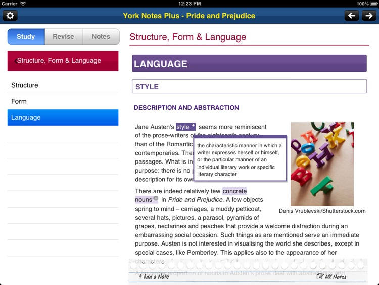 Pride and Prejudice York Notes AS and A2 for iPad