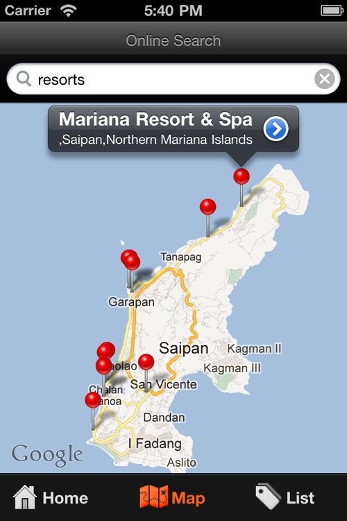 Saipan Travel Map