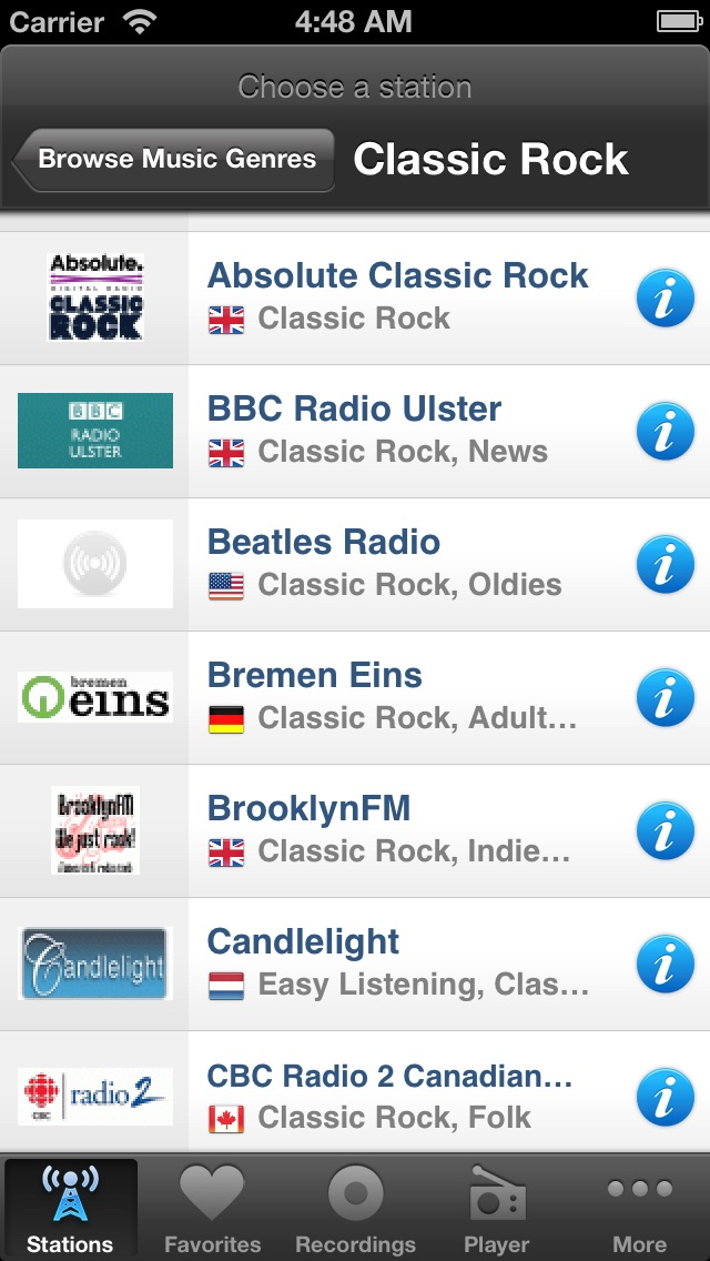 Screenshot for Internet Radio Box in Chile App Store