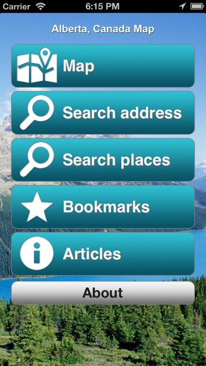 Alberta, Canada Offline Map - PLACE STARS