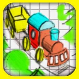Doodle Train Pro -  Premium Railroad Puzzler