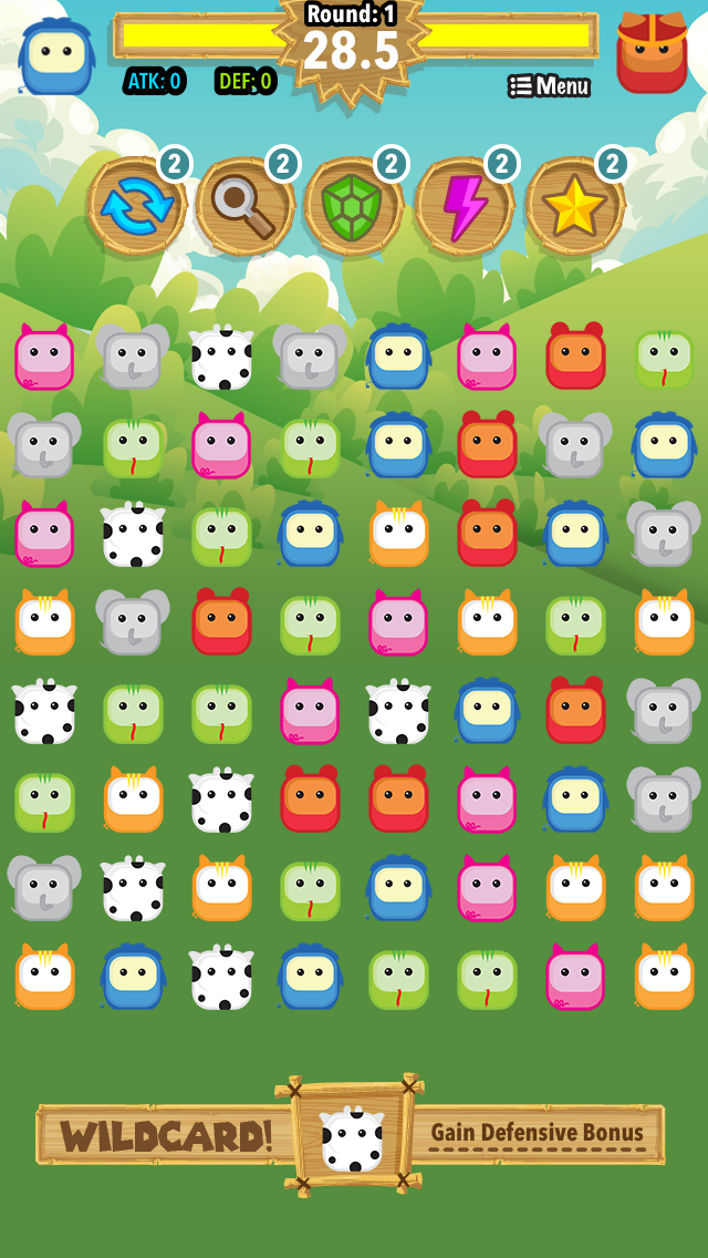 Animals Match Battle: Multi-Player Pets Puzzle with Wild