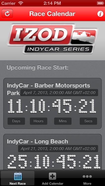 Race Calendar HD screenshot-4