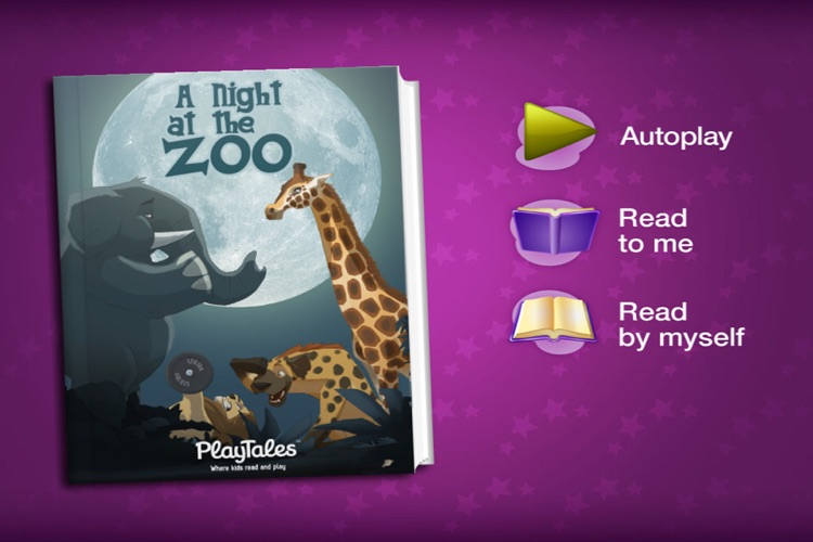 A night at the zoo - interactive book for children