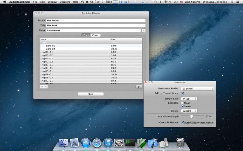 AudioBookBinder Screenshot