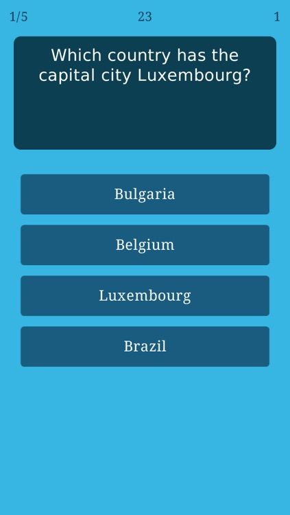 World Capitals Quiz - Geography Trivia Game about All Countries and Capital Cities on the Globe