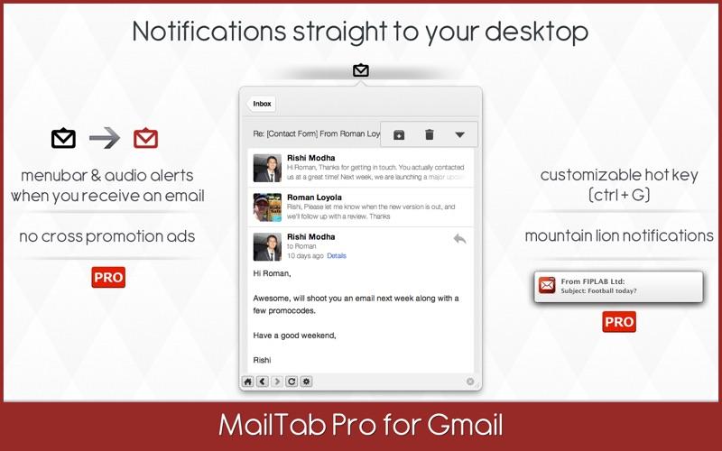 MailTab Pro for Gmail Screenshot