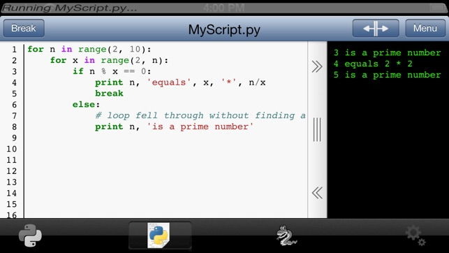 Python 2 5 for iOS on the App Store