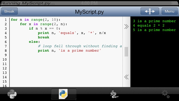 Python 2.5 for iOS screenshot-1