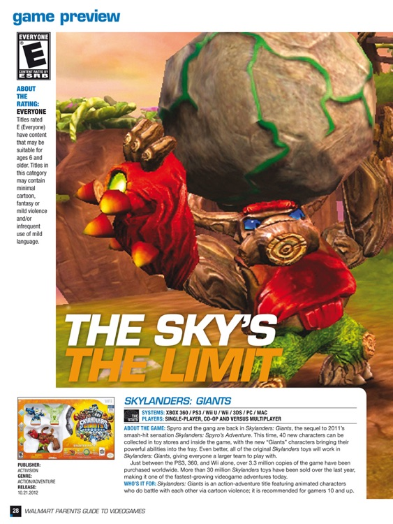 Walmart Parents Guide to Videogames Magazine
