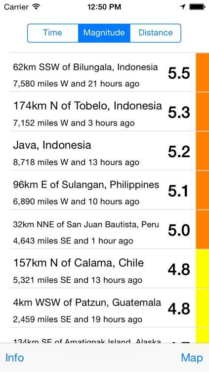 Mappity Quakes - Earthquake map screenshot-3