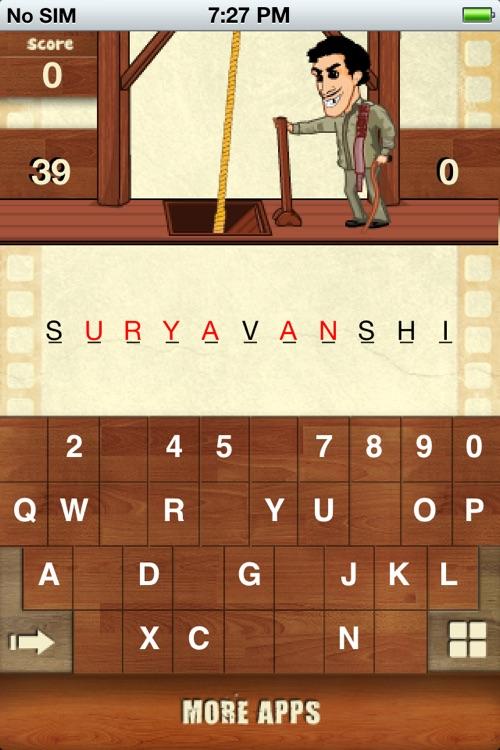 Hangman Bollywood For iPhone screenshot-4