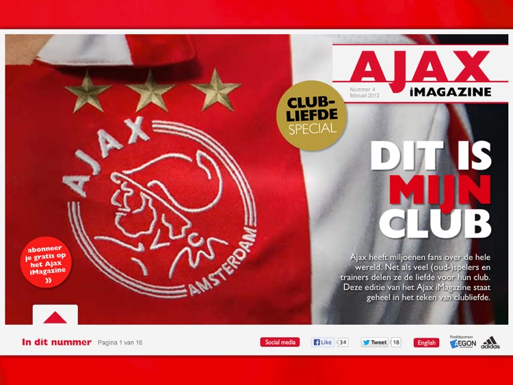 Ajax iMagazine App screenshot-2