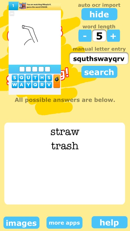 All Words for Draw Something Free