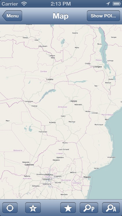 Zimbabwe Offline Map - PLACE STARS