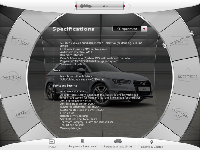 New Audi A3 on the App Store